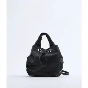 NWT Zara minimalist small bucket crossbody